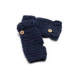 Dark Blue Fingerless Gloves