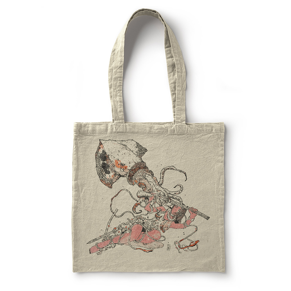 Astralon-rokos-10YEARSH&R-totebag